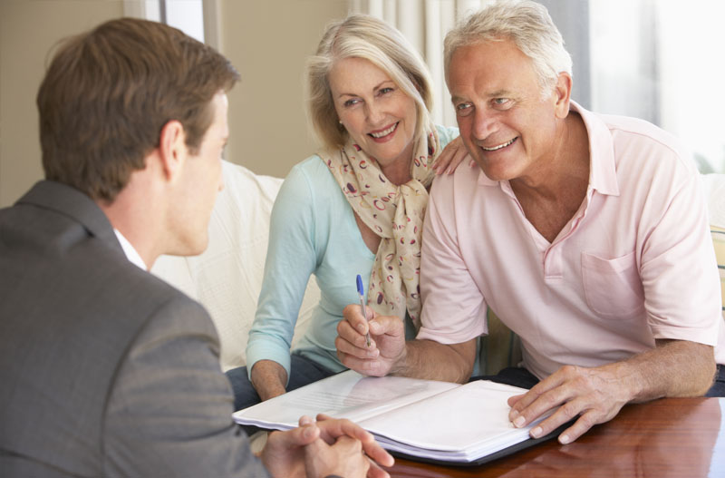 Estate planning with senior clients.
