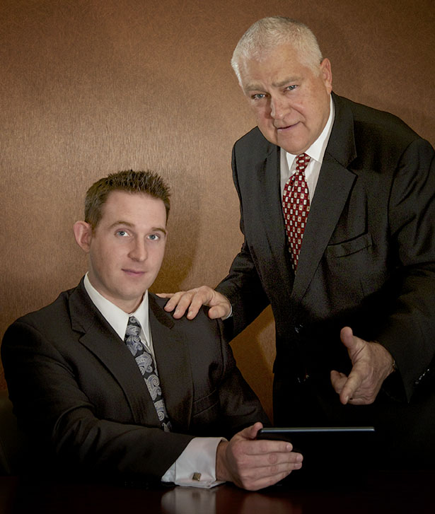 Photo of attorneys Dick Heidgerd and Eric Edwards.